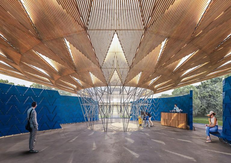 Serpentine Pavilion 2017, Designed by Francis Kéré, Design Render, Interior © Kéré Architecture