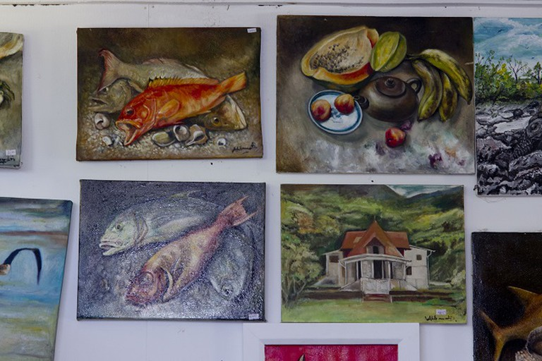 Paintings depicting Seychellois life | ©Salifa Magnan, Seychelles News Agency