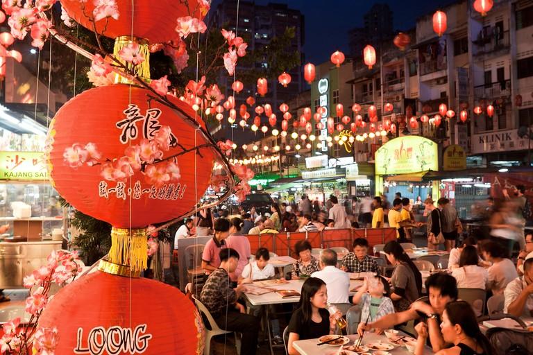 Cheap eat and drinks along Jalan Alor