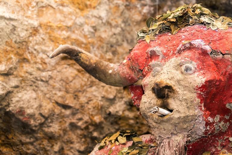 El Tio, idol that miners in the mines in Potosi, Bolivia worship ©Jess Kraft / Shutterstock