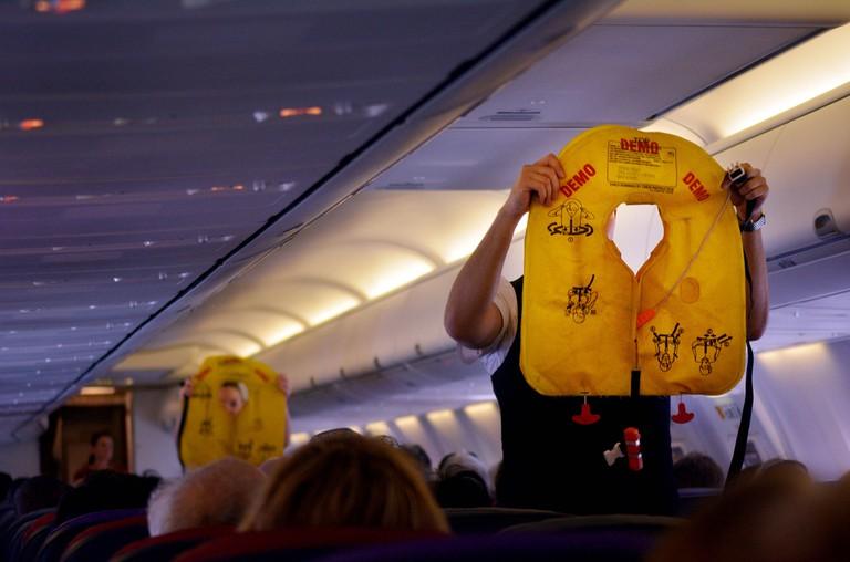 Plane safety demo © ChameleonsEye/Shutterstock
