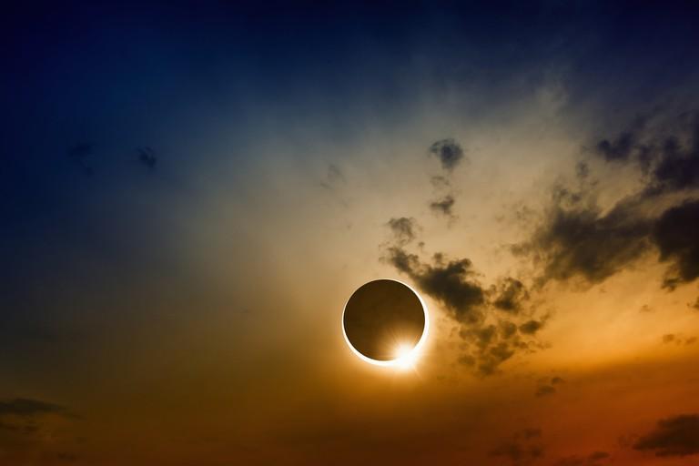 Lunar Eclipse over Cape Cod © Igor Zh. / Shutterstock