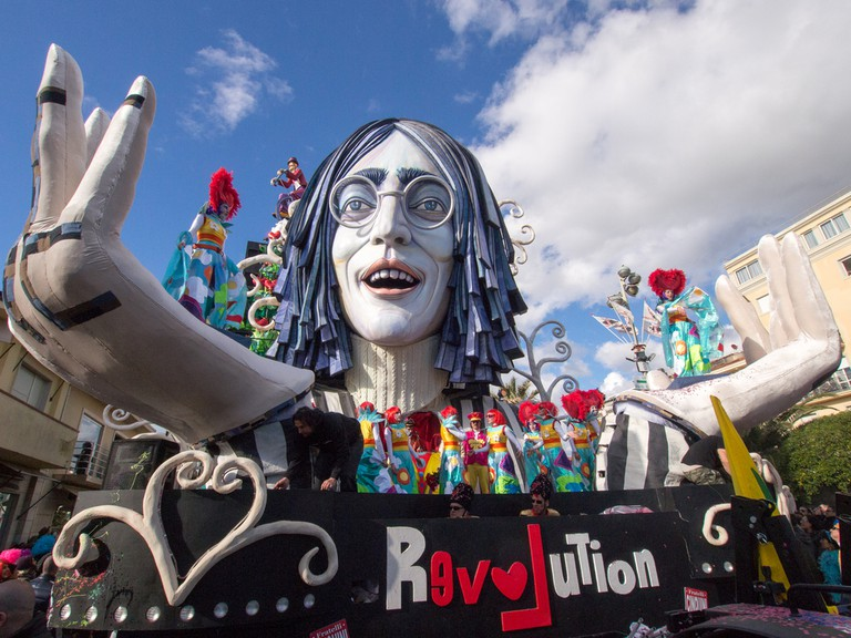 Allegorical float of John Lennon at Viareggio Carnival held February 23 | © marchesini62 / Shutterstock