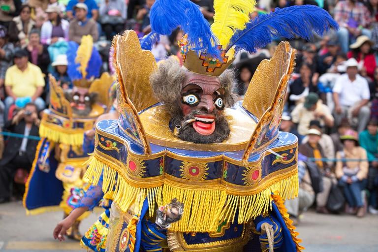 Diablada Oruro Carnival in Bolivia, declared UNESCO Cultural World Heritage © Sunsinger / Shutterstock
