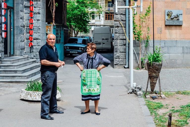 Old armenian couple in Yerevan, Armenia © Andrii Lutsyk / Shutterstock
