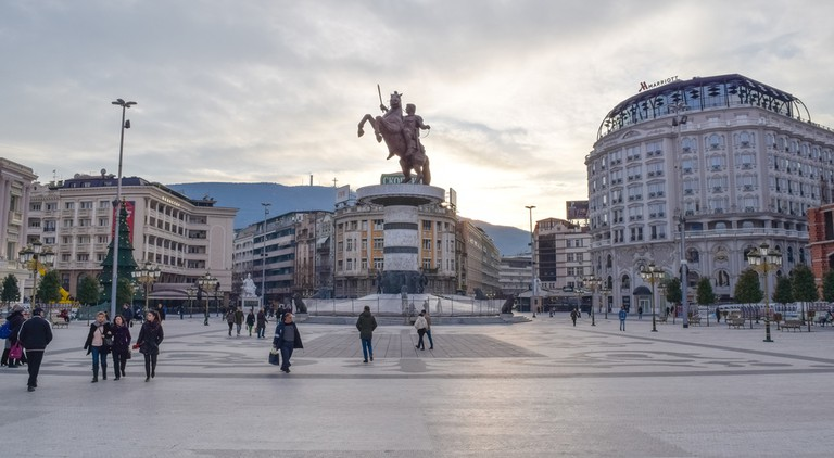 Architecture and buildings of Skopje City ©Authentic travel / Shutterstock
