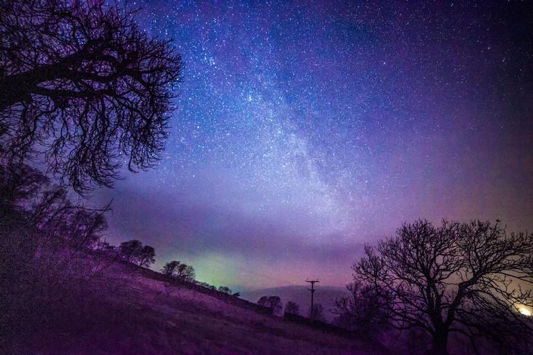 Northern lights over the Yorkshire Dales, UK – 27 Jan 2017
