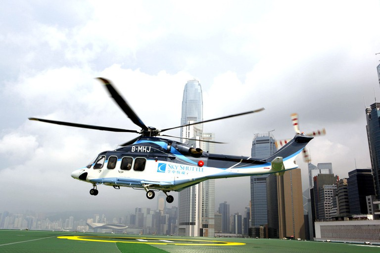 Helicopter from Hong Kong to Macau | courtesy of Sky Shuttle Helicopters Limited