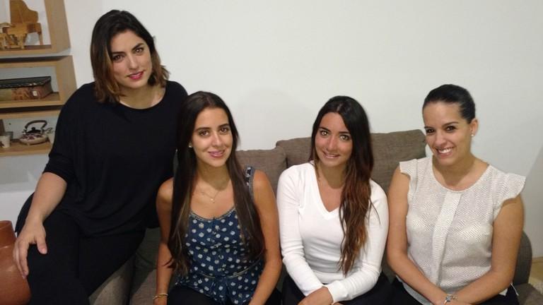 Fernanda, Andrea, María Antonieta and Lorena