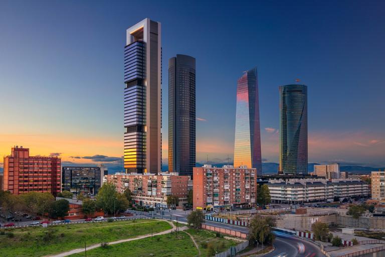 Madrid financial district with modern skyscrapers | © Rudy Balasko/Shutterstock