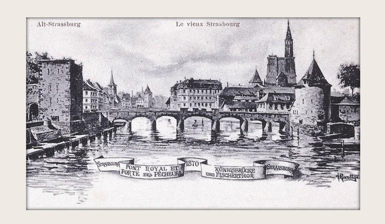 Pont Royal or Gallia in 1870 during the Imperial expansion of Strasbourg ©Gallica/WikiCommons