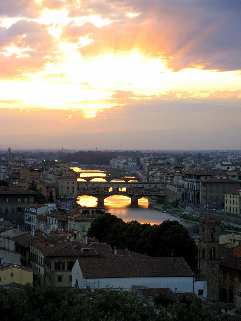 Sunset from Piazzale Michelangelo, Anna Fox, Flikr