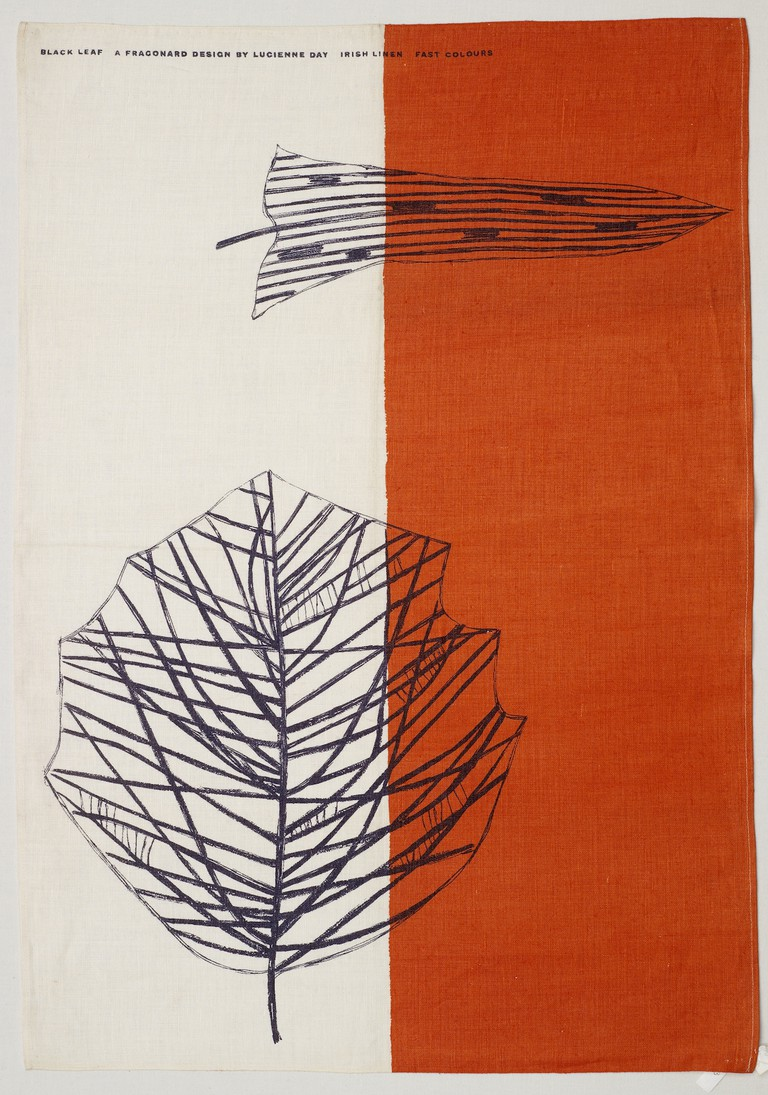 Black Leaf tea towel, Lucienne Day, Thomas Somerset, 1959 | © Robin & Lucienne Day Foundation