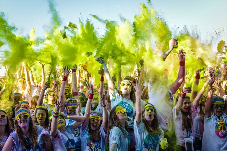 The Color Run after-party at Ostend's beach | courtesy of Golazo Sports