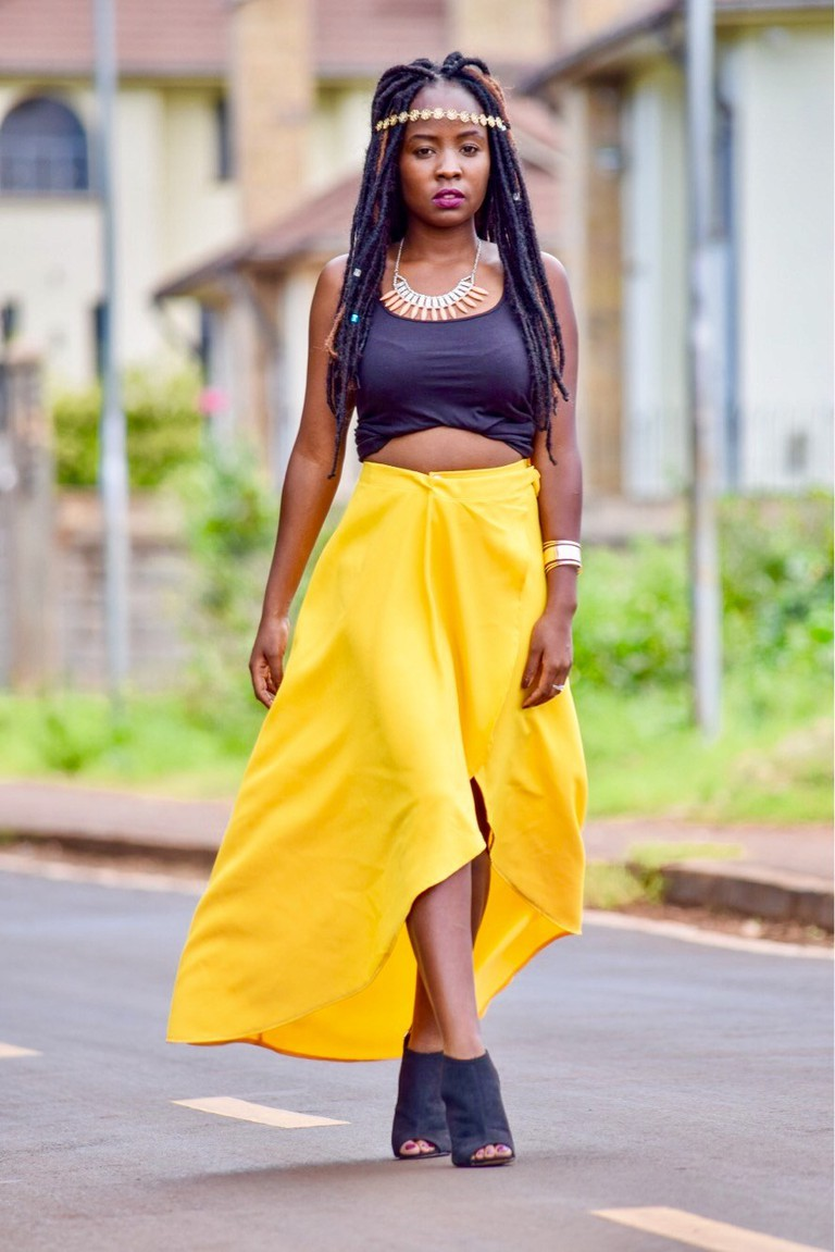 How to style an overlap skirt | Courtesy of The Reel Rhee
