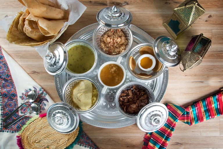 A traditional Omani breakfast | Courtesy of Nana's Resturant, Muscat