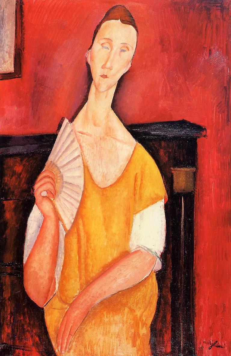 Amadeo Modigliani, 'Woman With Fan' (1919). Courtesy of WikiCommons