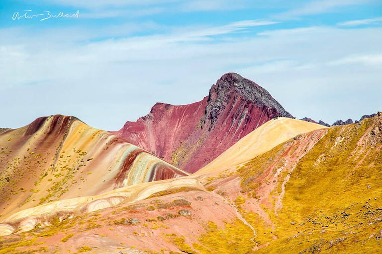 Rainbow Mountain seen from afar. |©Courtesy of Arturo Bullard