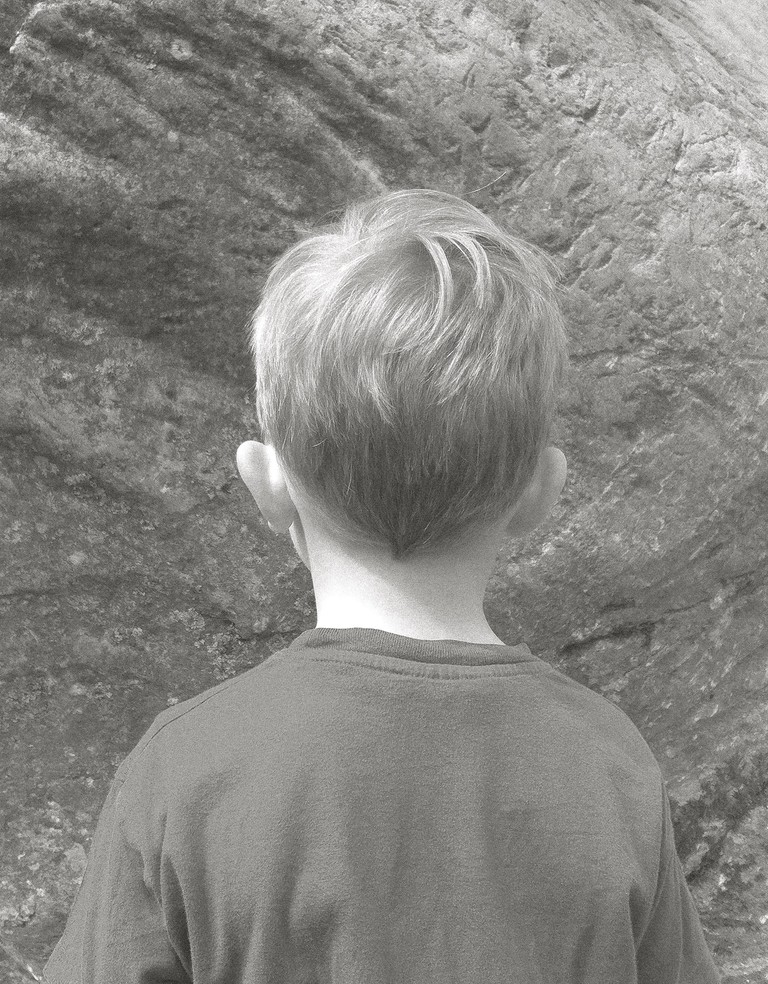 Marion Coutts, 'Boy Looking at Rock on Top of Another Rock', 2017 | © Marion Coutts. Courtesy the artist and Tintype