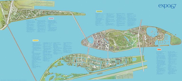Expo 67 map design | © Wikimedia Commons