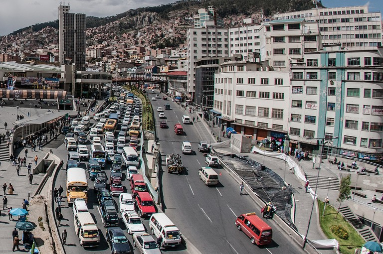 Traffic in La Paz | © Eneas De Troya