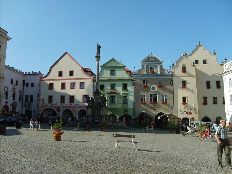 Main square with the fountain | ©Ondřej Koníček / Wikimedia Commons