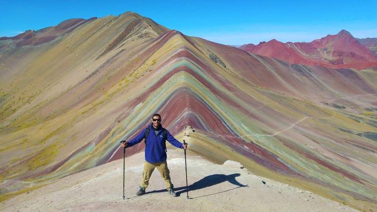 Peak of the Rainbow Mountain|©Courtesy of One Earth Peru