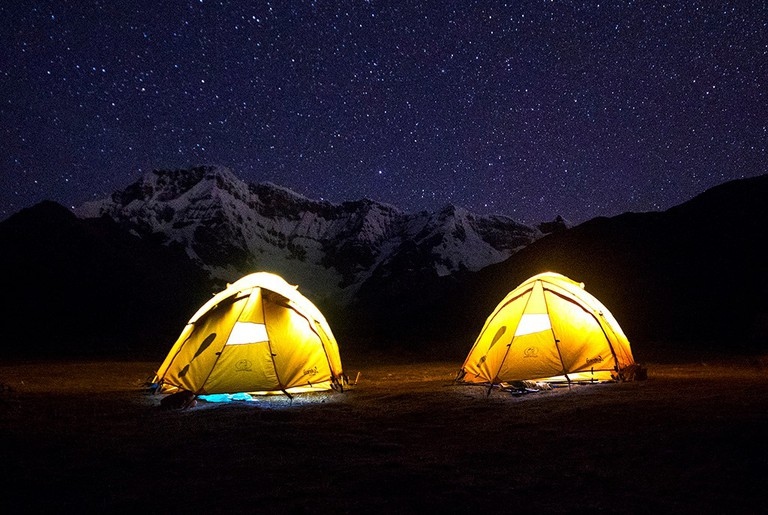 Nights in the Ausangate trail can be freezing cold, sometimes reaching 0 degrees.|©Courtesy of One Earth Peru