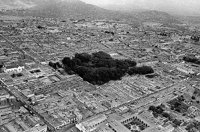Bird's eye view of Quinta Heeren in the 1980s