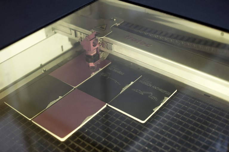 The Trotect laser cutter Courtesy of FAB Café