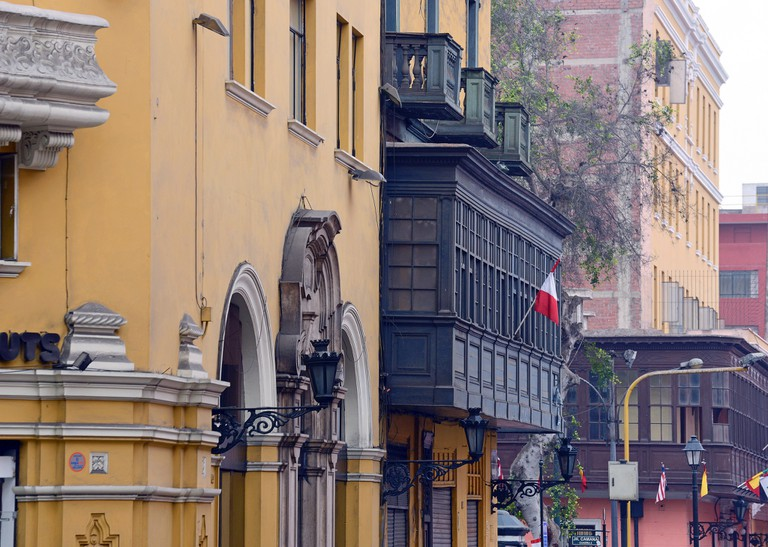 Colonial architecture can be seen all across the historic center of Lima