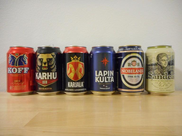 Some brands of Finnish beer/ Kumpei Shiraishi/ Flickr