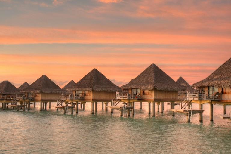 Sunrise at the Intercontinental in Bora Bora   © SF Brit