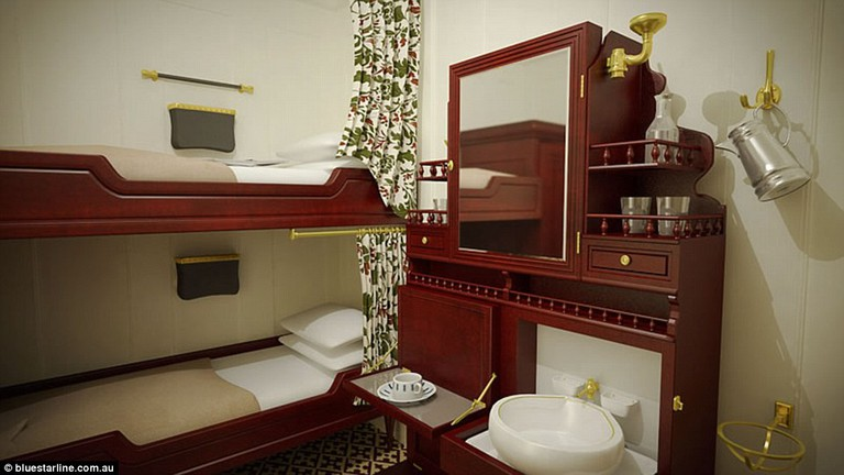 Third class cabins | © Blue Star Line