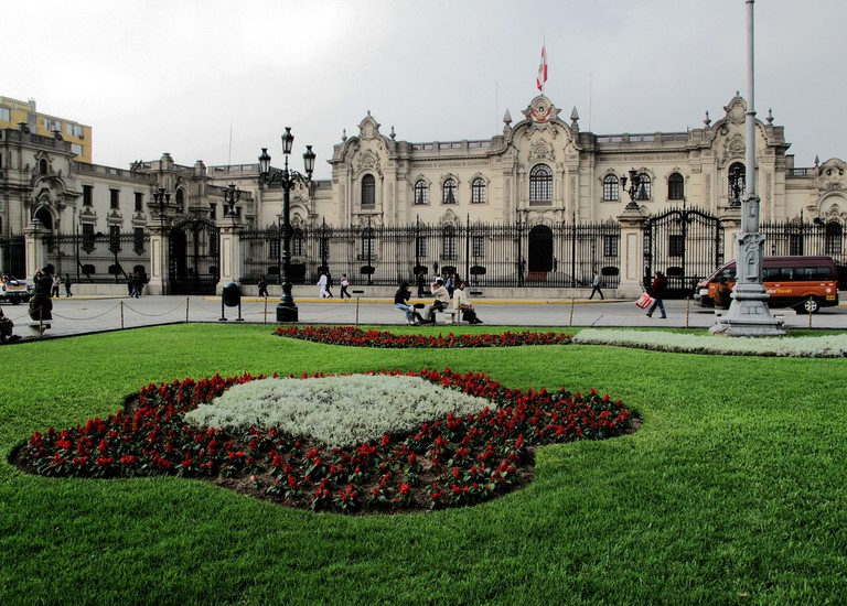 Palacio Nacional at the Plaza de Aramas