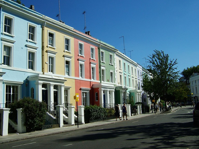 Notting Hill's colourful houses