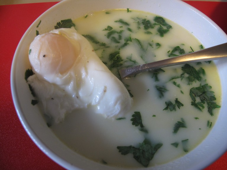 Changua, Colombian Breakfast Soup © Manuela y Daniel / Flickr