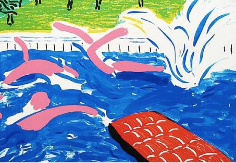 David Hockney, Afternoon Swimming (1980) at Lyndsey Ingram, London. Courtesy of The Armory Show