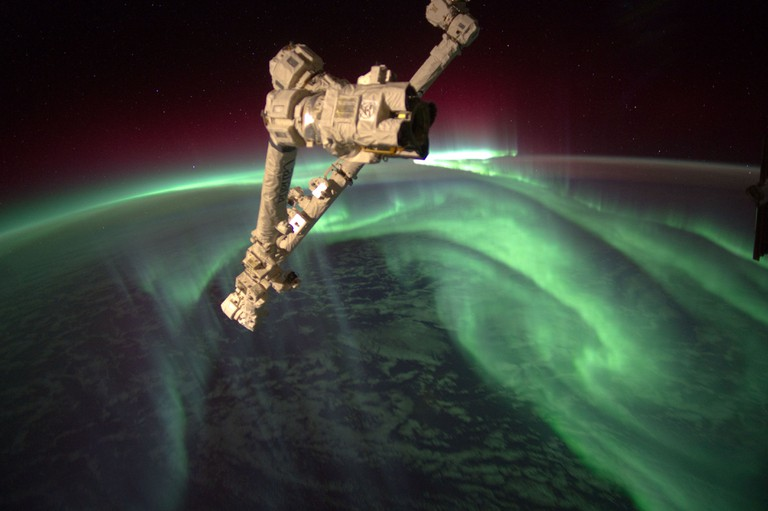 The aurora australis captured by crew aboard the International Space Station | © NASA