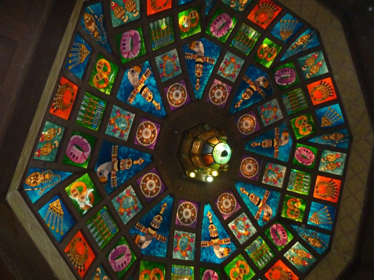 Ceiling decoration in Muttrah Souq | © Kathryn James