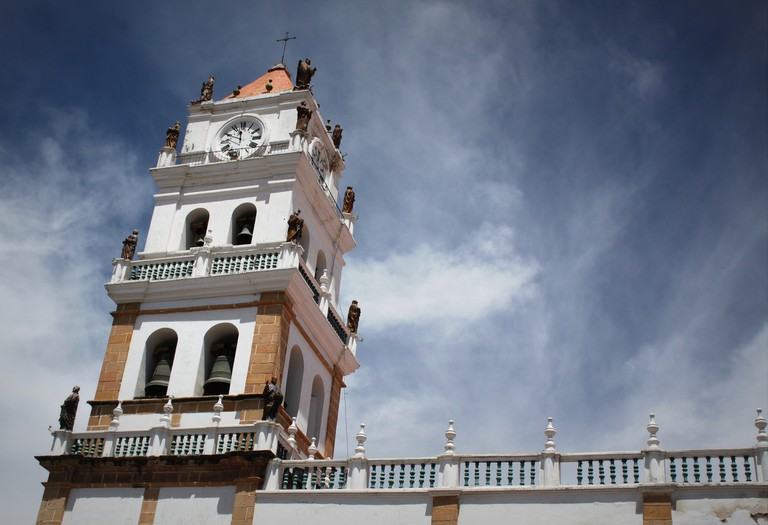 Church tower in Sucre | © Jonathan Hood/Flickr