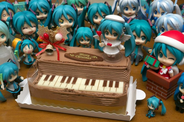 Hatsune Miku celebrates Christmas (Nendroid figures) | © Charlie/Flickr