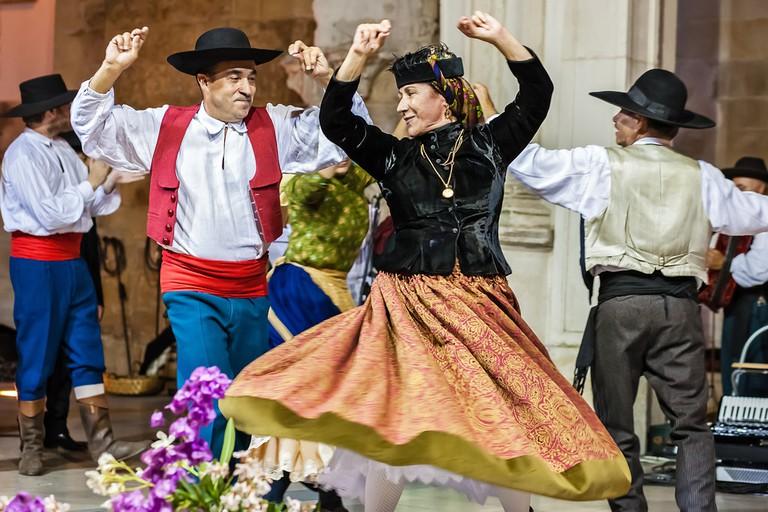 Traditional Portuguese folk dancing