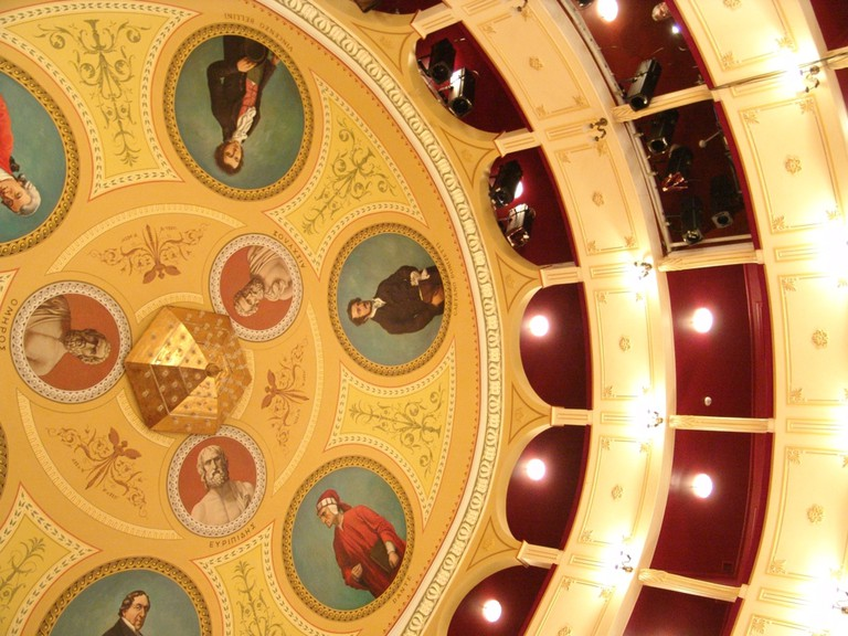 Ceiling of the Apollon Theater, Syros | © Athina Chimariou / Flickr