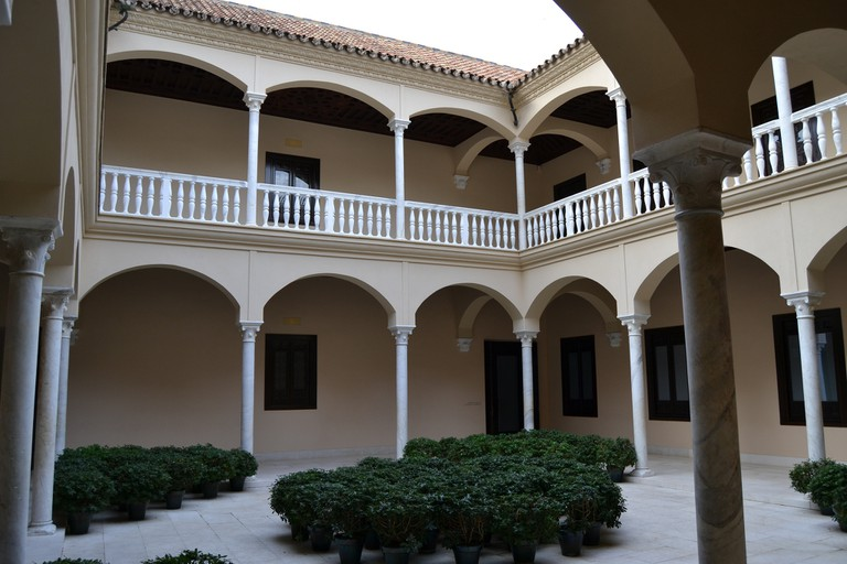 Elegant internal courtyard of the Picasso Museum, Malaga; Emilio, flickr
