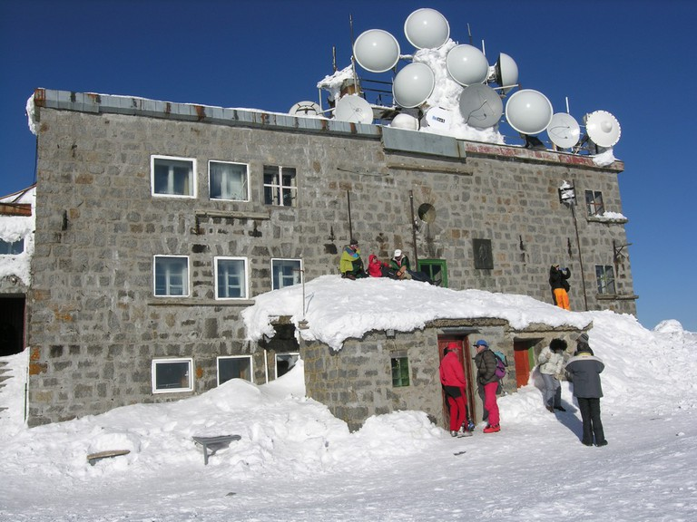 Tea House at Cherni Vrah – the highest peak of Vitosha Mountain