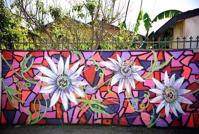A mural by Andrea LaHue, aka Random Act