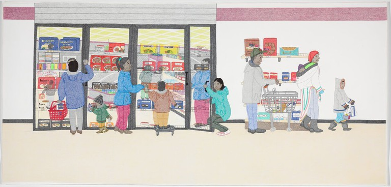 Annie Pootoogook, Cape Dorset Freezer (2005)   Courtesy of the National Gallery of Canada