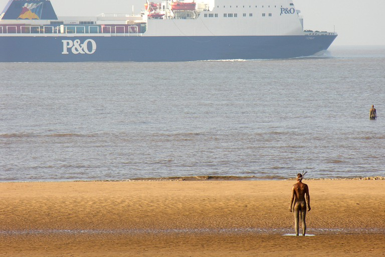 Anthony Gormley's 'Another Place - Crosby Beach