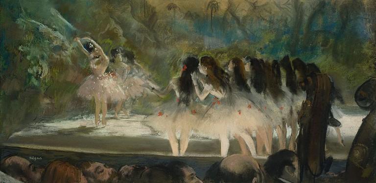 Ballet at the Paris Opéra (1877) │© Edgar Degas / Wikimedia Commons